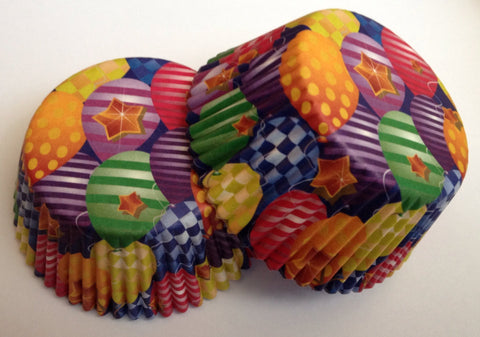 Multi Colored Cupcake Liners 50 count Balloon