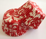 50 count Red Damask Cupcake Liners