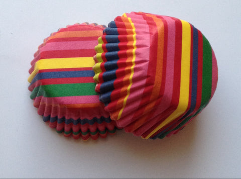 New! 100 count Mini Multi Colorful Cupcake Liners