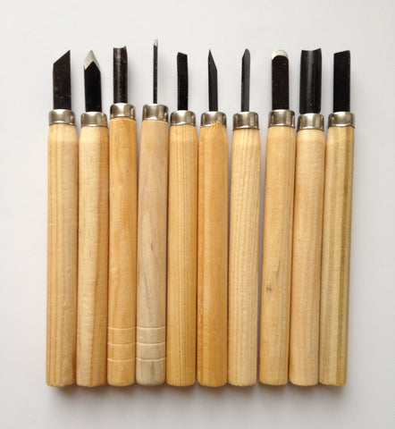 New! 10 pcs Wood Carving Knife Tool Set Craft Woodworking Chisel Hand Tool Tools