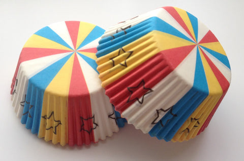 50 count Multi Colored Cupcake Liners