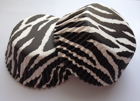 50 count Zebra striped cupcake Liners