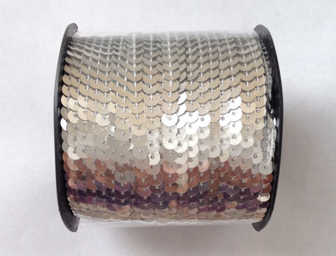 New! Silver Sequins 100 yard Roll Spool String 6mm Sewing Tools Fabric Tools Supplies Trim