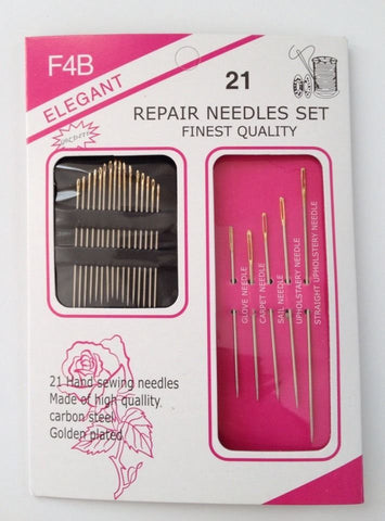 21 pcs Assorted Hand Sewing Needles Embroidery Mending Craft Quilt Sew Case High Quality