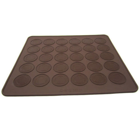 30 capacity Macaron Silicone Baking Mat-Unbranded