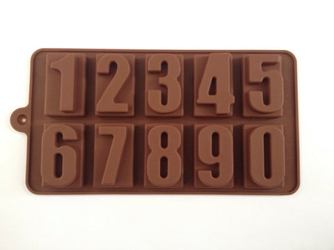 Number Cake Chocolate Silicone Mold -Unbranded