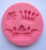 Crown King Queen Princess Prince Soft Silicone Mold-Unbranded