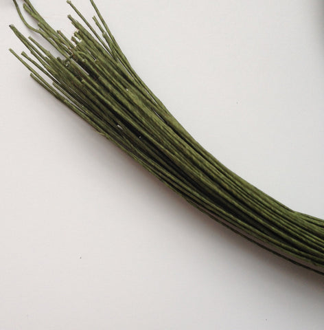 45 pcs Stem Wire 22 Gauge Green Floral Wire