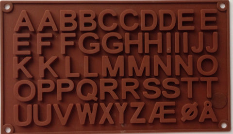 Letter Alphabets Alphabet Silicone Mold-Unbranded