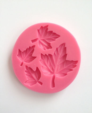 Fall Leaves Leaf Soft Silicone Mold-Unbranded
