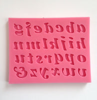 Italic Lowercase Letter Alphabets  Silicone Mold-Unbranded