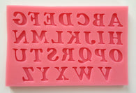 New Uppercase Letter Alphabets Silicone Mold -Unbranded