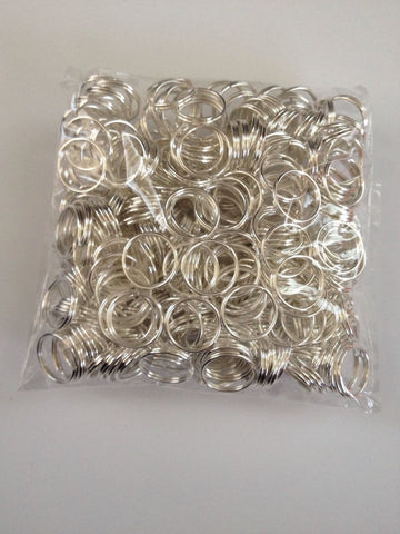New! 300 pcs Silver Plated Split Open Double Loop Jump Rings 10mm Jewelry #58 Making Tools Supplies Hardware Findings