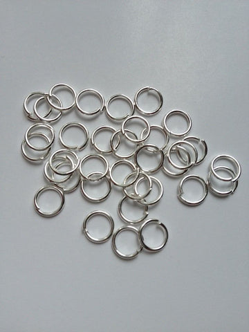 New! 1000 pcs Silver Plated Open Jump Rings 6mm Jewelry #67 Findings Necklace Supplies Tools Craft Making Hardware