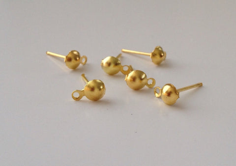 200 count Gold Plated Earring Posts 12mm Jewelry Findings #104 Supplies Tools Backs Findings tools Craft Hardware