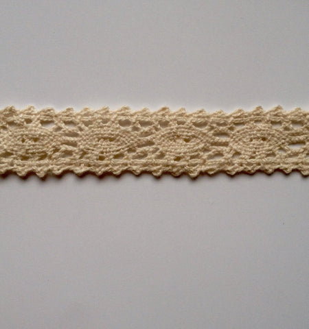 10 Yards Ivory Cotton Crochet Lace Trim 2V
