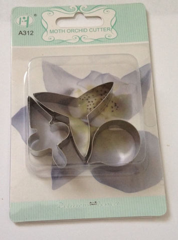 3 set Moth Orchid Cutter set stainless steel cake decorating Petal gum paste fondant Cutter Mold Craft Cooking Food Baking Tools Supplies