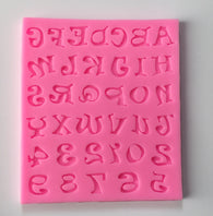 Whimsical Letter Alphabets Silicone Mold -Unbranded