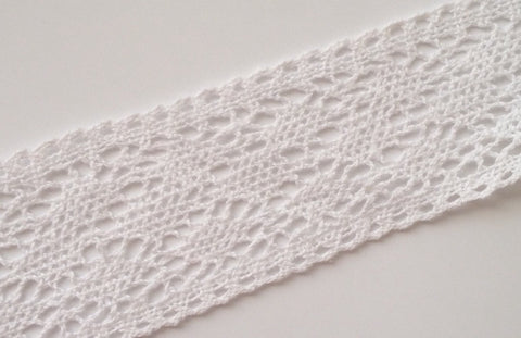 New 5 Yards White Cottong Crochet Lace Trim 3W