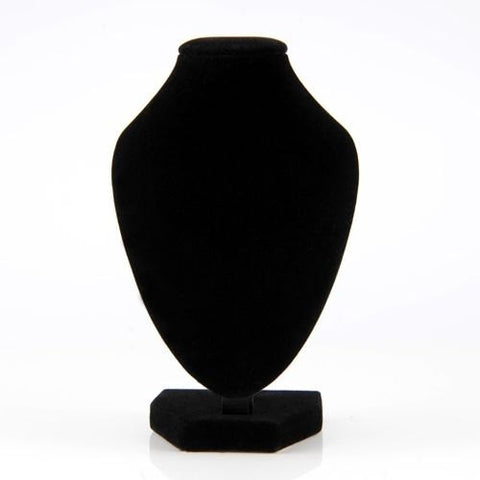 "6"" Black Velvet Mannequin Necklace Jewelry Display storage Stand Holder Decorate Pendant Bust dressmaking showcase"