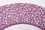 12 pcs Purple Classic Lace Cupcake Wrappers