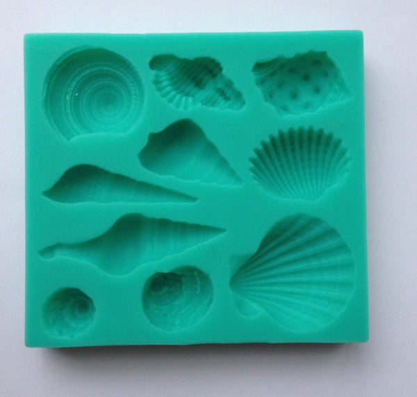 Shells Seashell Silicone mold Soft Silicone Mold Fondant Mat Cake Decorating Cupcake Baking Tools Supplies Cookies Wedding Embossing