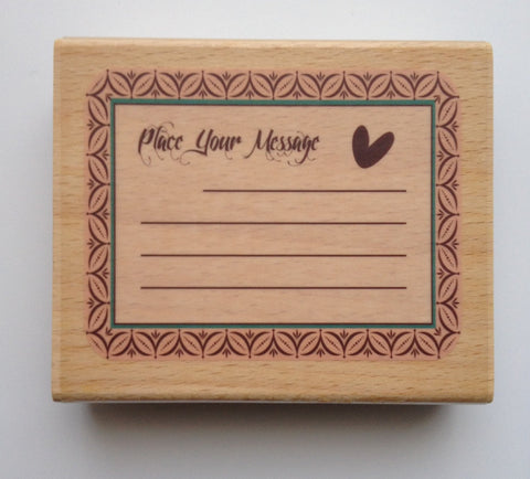 1 pc large Wooden Message Rubber Stamp Cardmaking Scrapbooking