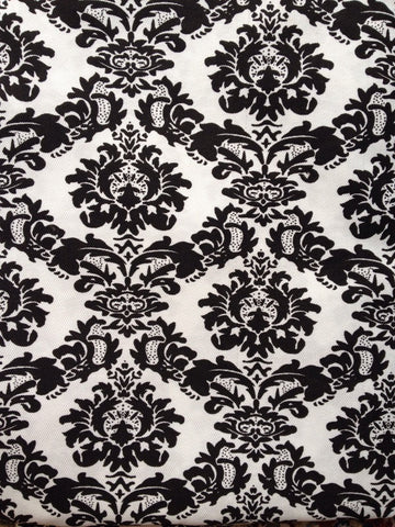 New! 1.09 yards White Black Damask Fabric Polyester Pattern Sewing Quality white black quilting floral polyester fabric