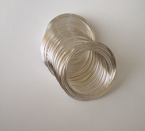 50 55mm Silver Plated Beading Wire Jewelry Necklace Bracelets Steel Loop Tools Supplies Craft Making Findings Hardware