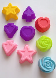 9 pcs set Fondant Mold Heart Star Arrow Rose Soft Silicone Mold-Unbranded