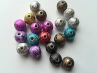 100 pcs 10mm Colorful Spacer Glitter Beads Round 10mm 55B