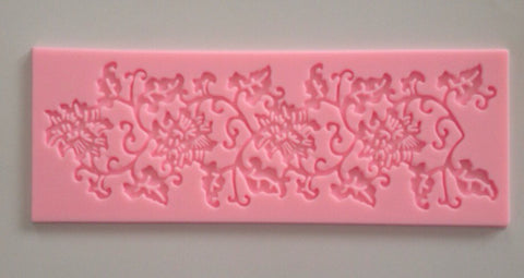 Floral Leaves Soft Silicone Mold-Unbranded