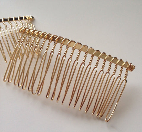 New! 10 pcs Gold Plated Hair Comb Accessories Clips Combs Barrettes Alligator