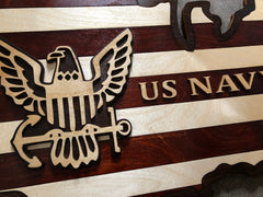 Close up picture of US Navy Logo and wording