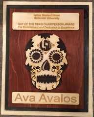 Gallaudet Latin Student Union Award with Decorative Skull