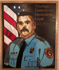 Woodcut picture of deaf fireman