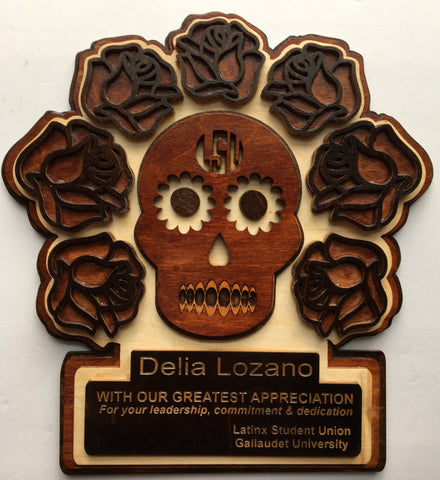 Gallaudet Latin Student Union Award with Skull