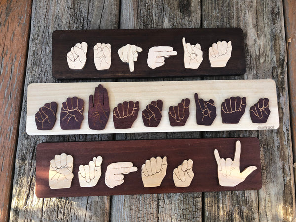 Sign Language Name Board