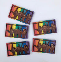 "5 Rainbow ""LOVE"" Magnets"