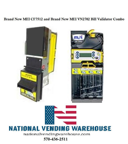 Brand New MEI CF7512 and MEI VN2702 Bill Validator Combo Package