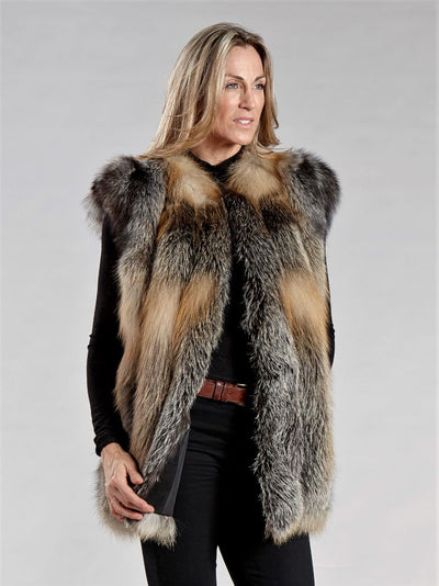Natural Cross Fox Vest