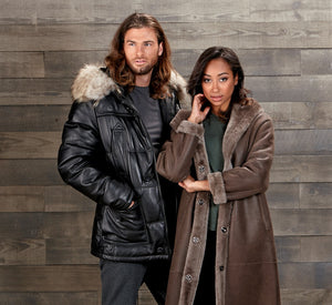 Men's Black Leather Jacket andWomen's Shearling Coat | The Fur Store