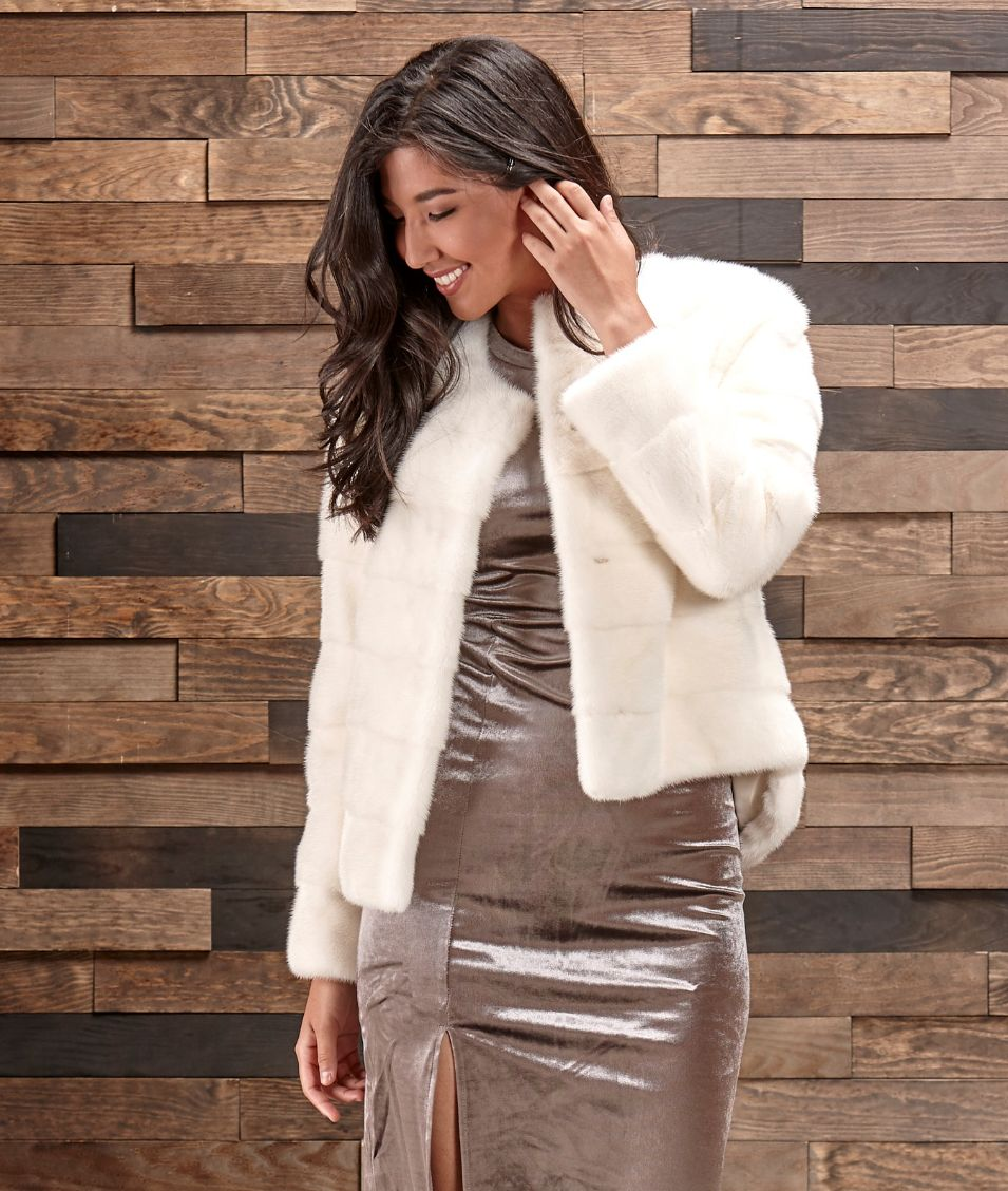 White Mink fur Jacket | The Fur Store