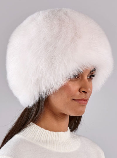 Sofia Russian White Fox Hat - The Fur Store