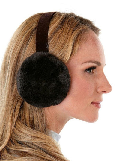 Rebekah Brown Sheared Beaver Earmuffs - The Fur Store