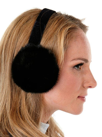 Rebekah Black Mink Earmuffs - The Fur Store