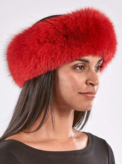 Maria Red Fox Headband - The Fur Store