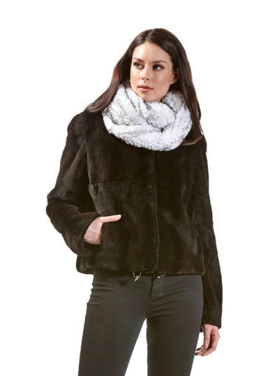Kelsey Brown Rex Rabbit Jacket - The Fur Store