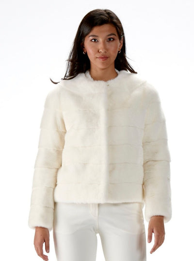 Lisette White Mink Jacket - The Fur Store