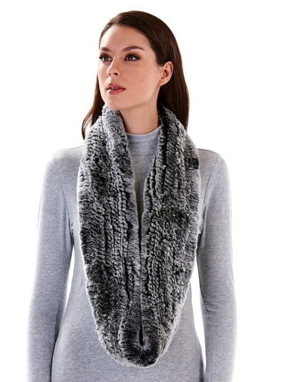 Remi Chinchilla Dyed Rex Rabbit Infinity Scarf - The Fur Store